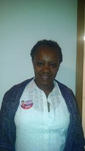 Candidata Assistente Social Lucimar. Foto; Daniela Luciana Silva